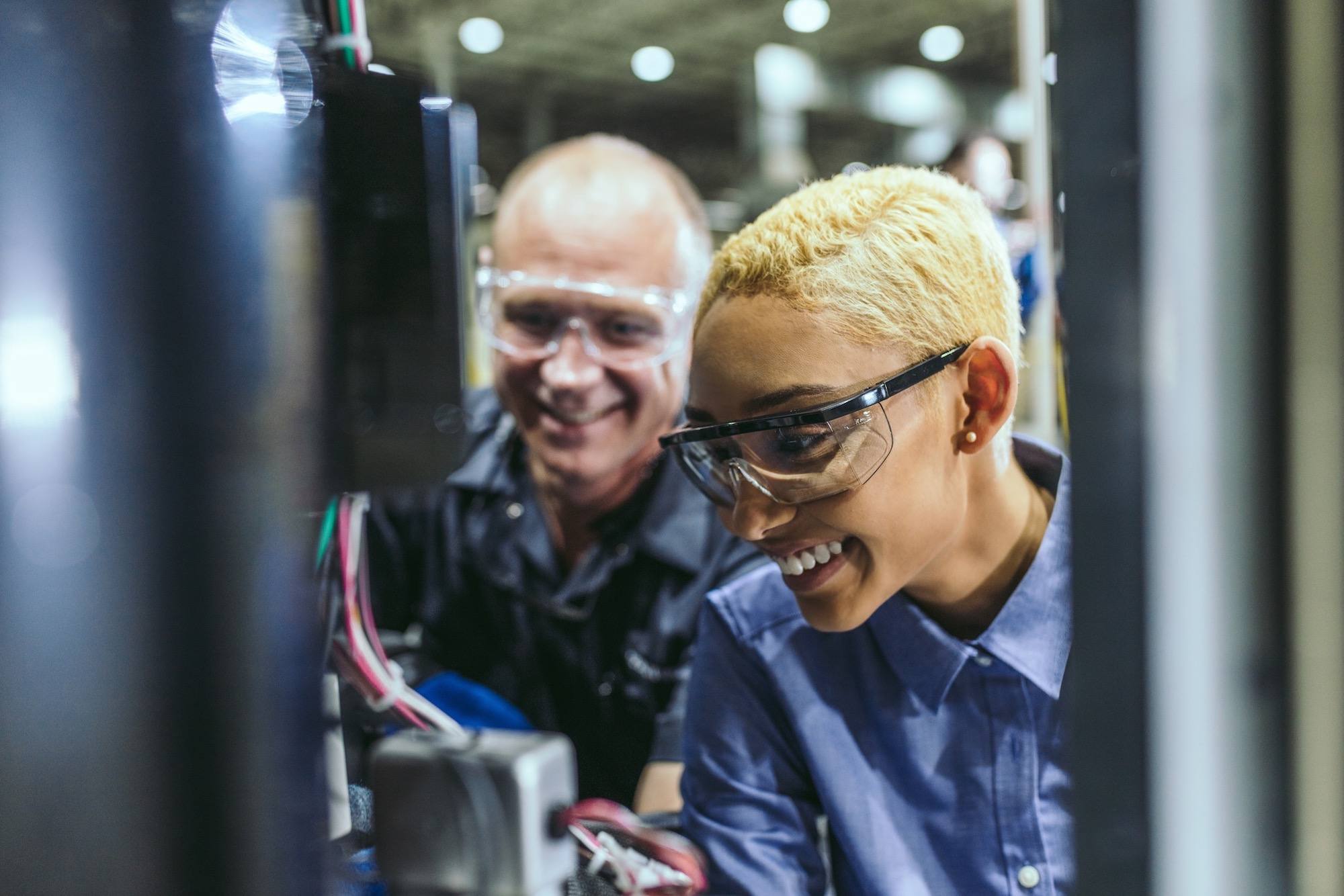 Black female woman technician